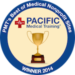 Pacfic Medical Training, PMT's Best of Meidcal Nonprofit Sites Winner 2014