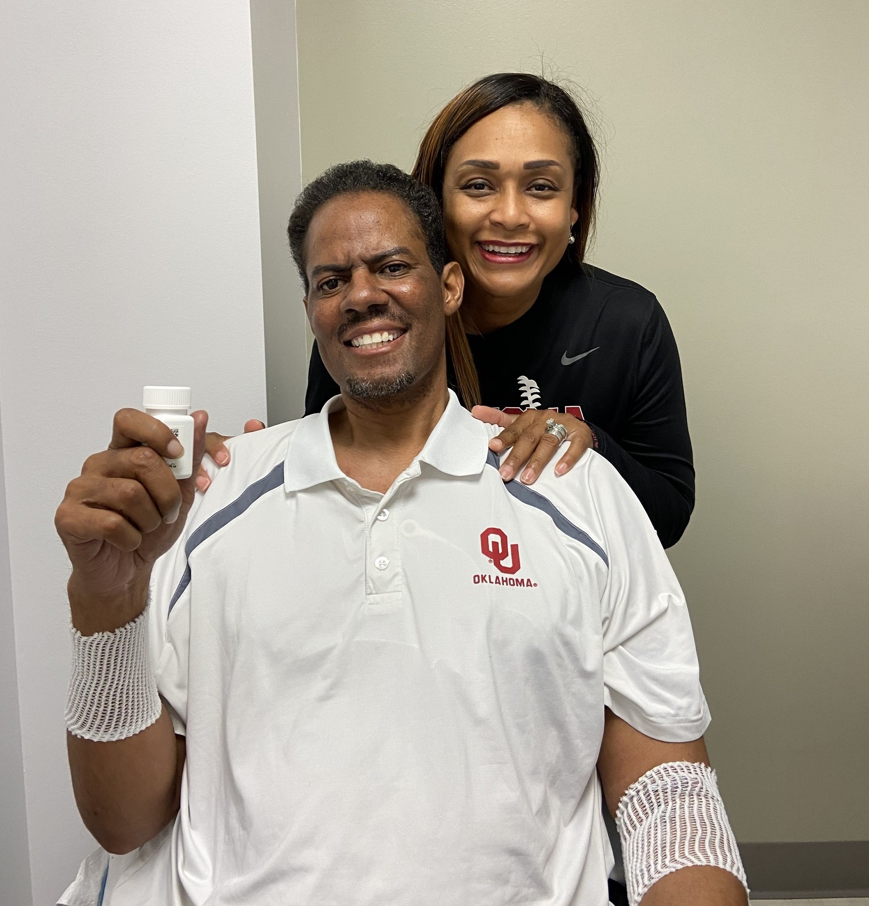 Martell and Katina  celebrate rapid approval for compassionate use