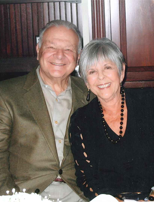 Nancy Strauss with her husband