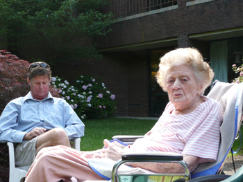 Tom with his mom Marge in June 2009.